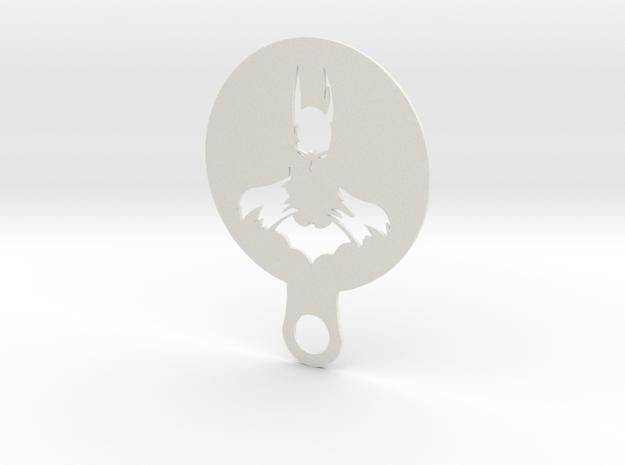 Coffee Stencil - Batman in White Strong & Flexible