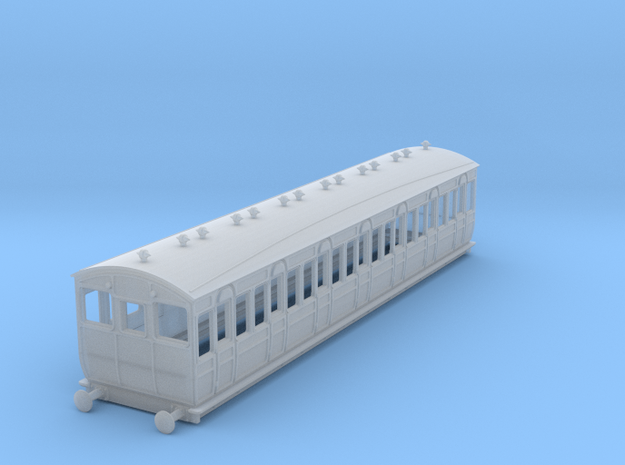 o-148fs-met-ashbury-bogie-3rd-class-driver-coach in Smooth Fine Detail Plastic