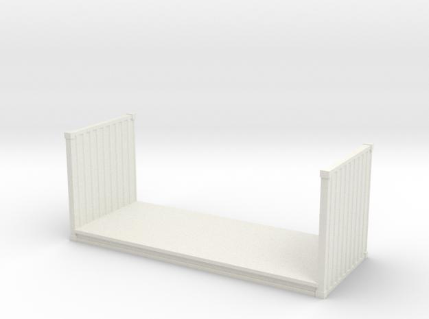 20ft Flatrack Container 1/76 in White Natural Versatile Plastic