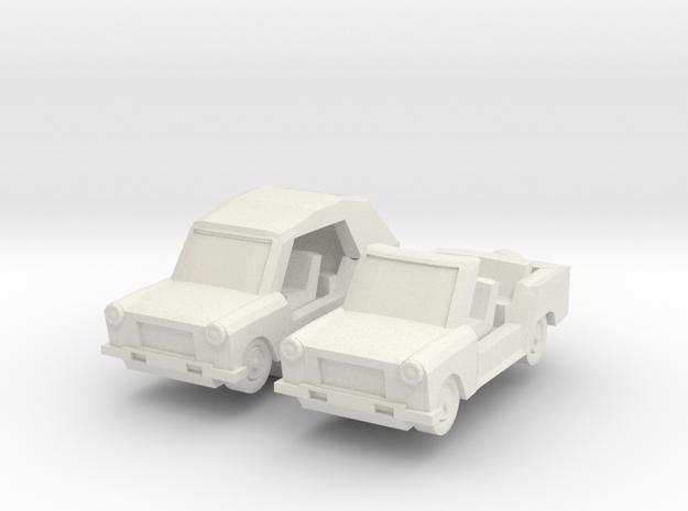 1/100 Trabant Kuebel in White Natural Versatile Plastic