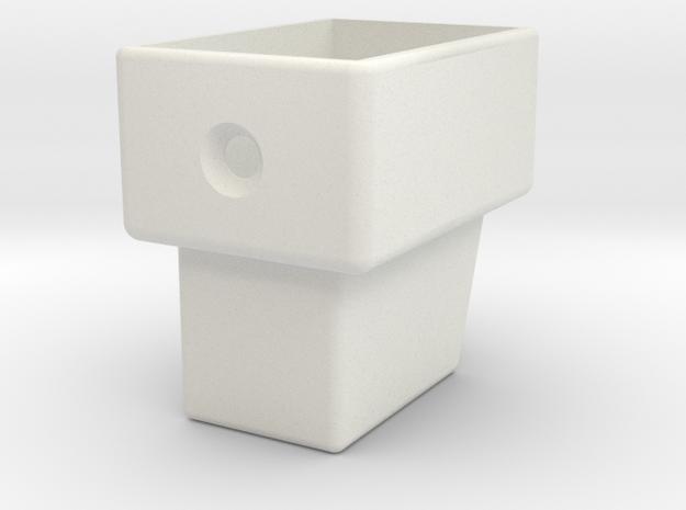 DS Endcap in White Natural Versatile Plastic