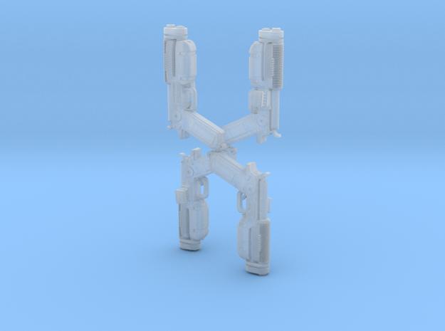Super Katarn 4 pack blasters! in Smooth Fine Detail Plastic