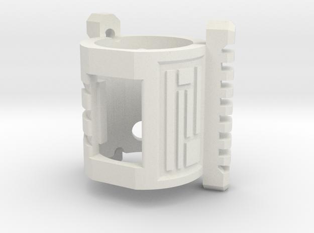Graflex GMM Chassis - Part08 - Crystal Holder in White Natural Versatile Plastic