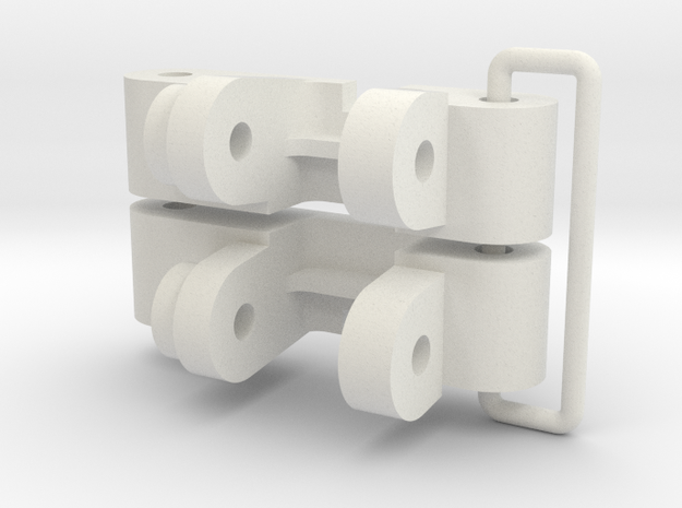 tamiya falcon front suspension upright set in White Natural Versatile Plastic