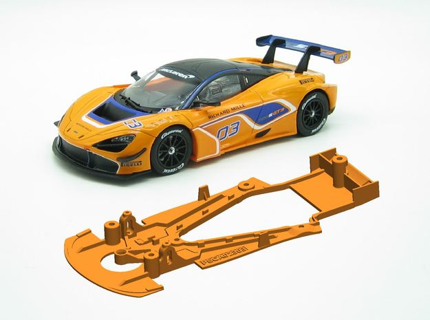 PSCA023003 Chassis for Carrera McLaren 720S GT3 in White Natural Versatile Plastic