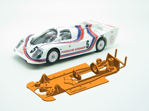 PSFY00601 Chassis for Fly Porsche Kremer CK5 in White Natural Versatile Plastic