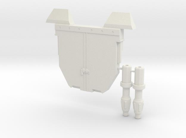 EW Prime Tailgate and Guns in White Natural Versatile Plastic