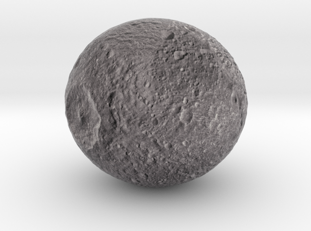 "Mimas /12"" Moon globe addon in Natural Full Color Sandstone"