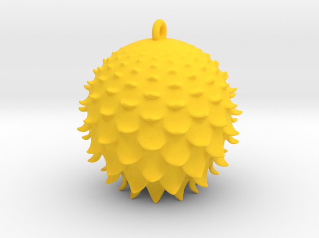 Thistle Ball in Yellow Processed Versatile Plastic
