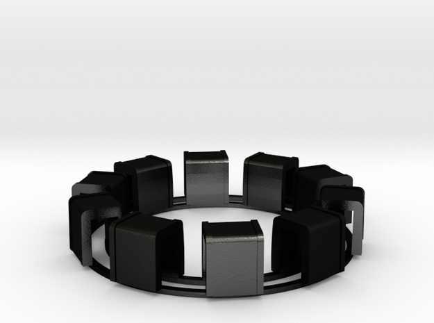 Ring Of Transformers in Matte Black Steel
