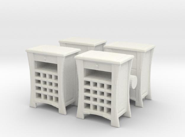 Wine Cabinet (x4) 1/64 in White Natural Versatile Plastic