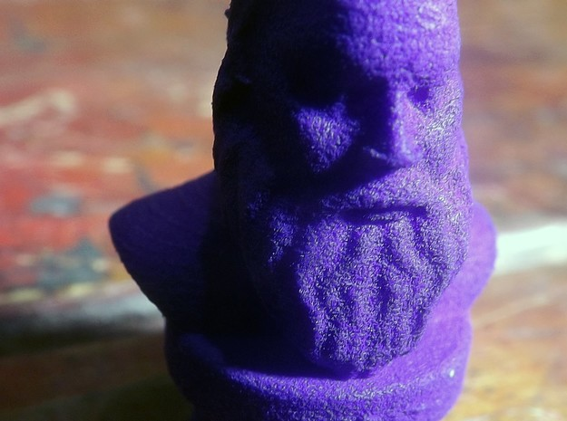 Socrates Bust in Purple Processed Versatile Plastic