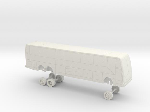 HO Scale Bus 2010 Prevost H3-45 Marin Airporter in White Natural Versatile Plastic