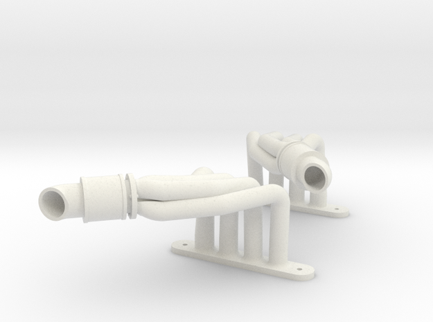 Another Magnaflow-styled Header  in White Natural Versatile Plastic