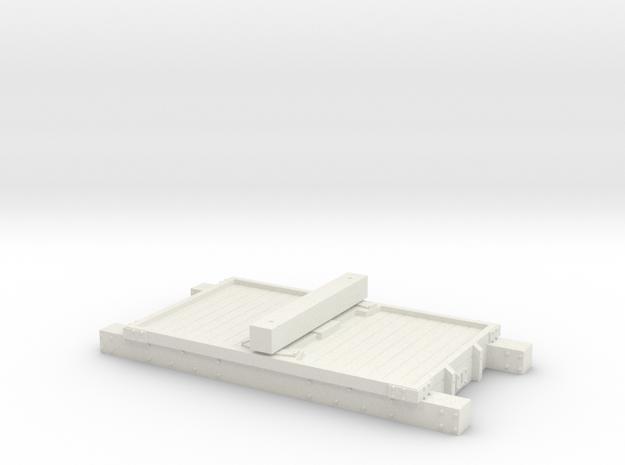 NSR-LNWR-FR-CAM BOLSTER 3D 4mm in White Natural Versatile Plastic