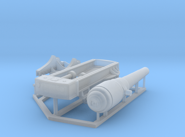 Armstrong 100-Ton Gun, 1/150 scale in Smooth Fine Detail Plastic