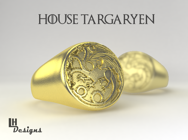 Size 7 Targaryen Ring in Raw Brass