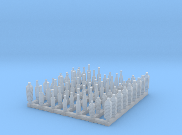 Bottles 1/64 scale in Smooth Fine Detail Plastic
