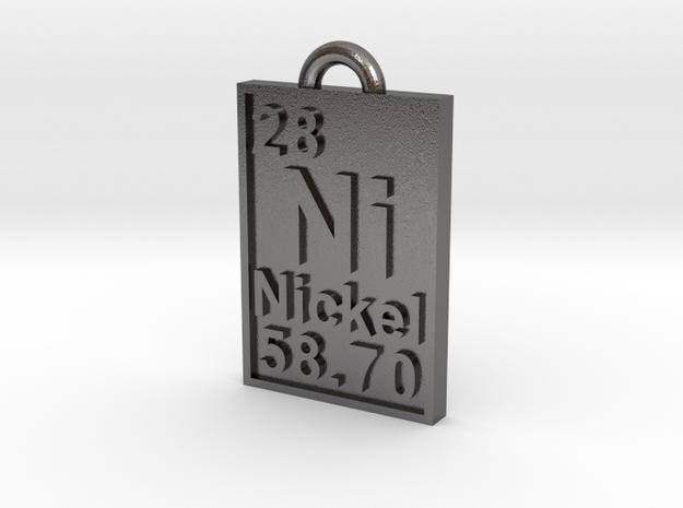 Nickel Periodic Table Pendant in Polished Nickel Steel