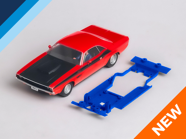 1/32 Scalextric Dodge Challenger Chassis AW pod in White Natural Versatile Plastic