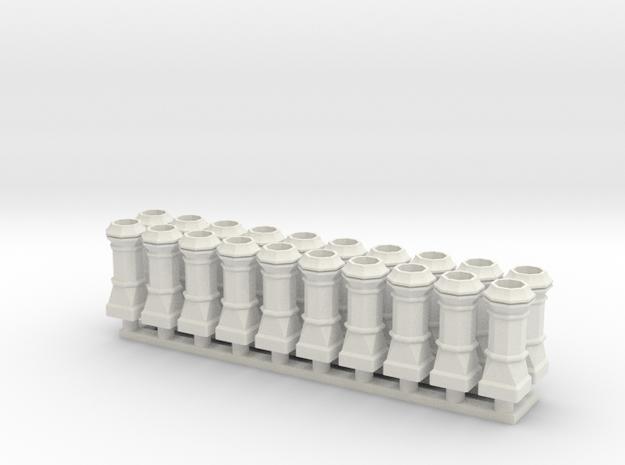 chimney edwardian group in White Natural Versatile Plastic