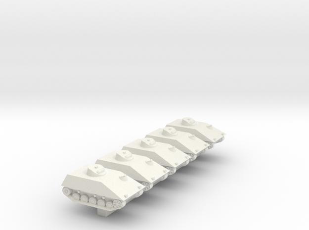 1/300 Bundeswehr Hotchkiss SPZ kurz x 5 in White Natural Versatile Plastic