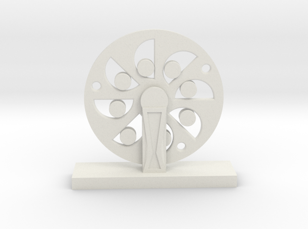 Da Vinci's Wheel in White Natural Versatile Plastic
