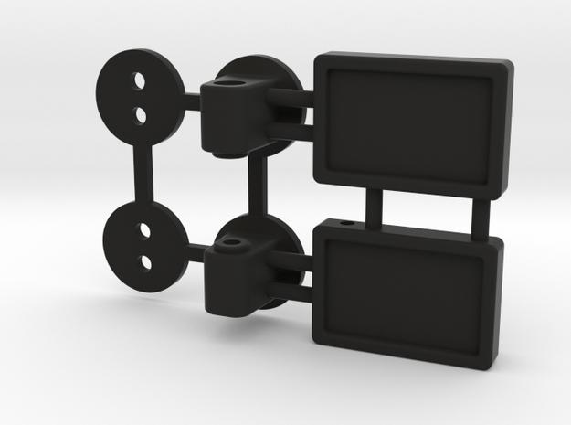 Jeep Wrangler mirrors 1:10   in Black Natural Versatile Plastic: 1:10