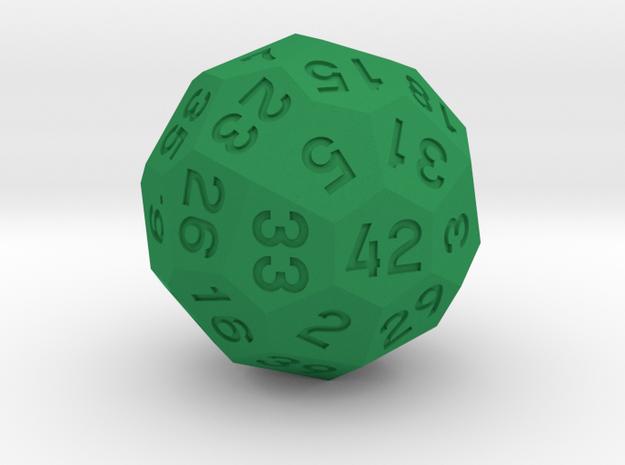 d42 Dice in Green Processed Versatile Plastic