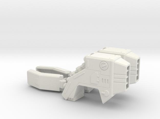 POTP SS GBP Armor - Shoulder Launchers in White Natural Versatile Plastic