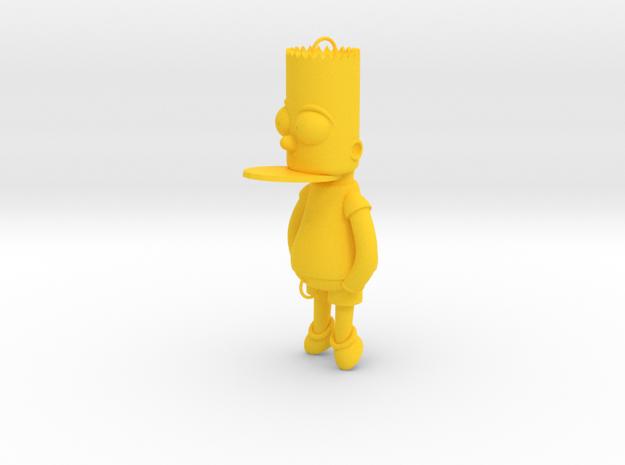 Bart Simpson Bait in Yellow Processed Versatile Plastic