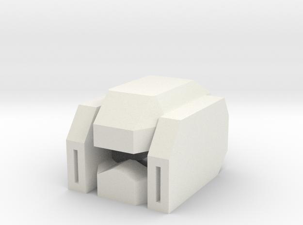 Robohelmet: Cat-scratch in White Natural Versatile Plastic