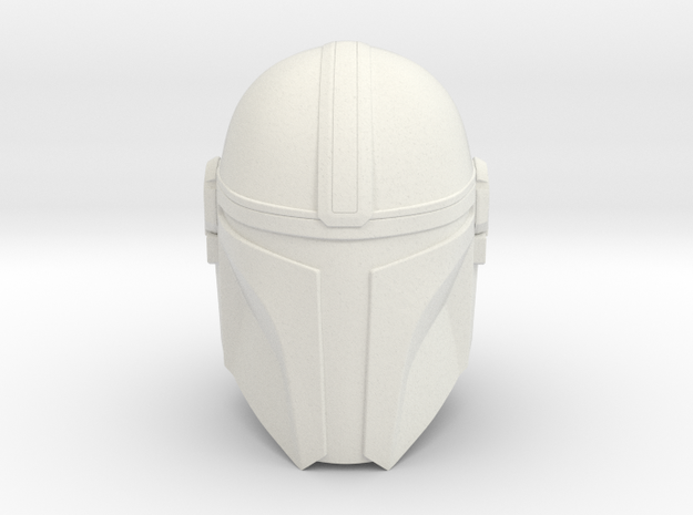 (The) Mandalorian Helmet | CCBS Scale in White Natural Versatile Plastic