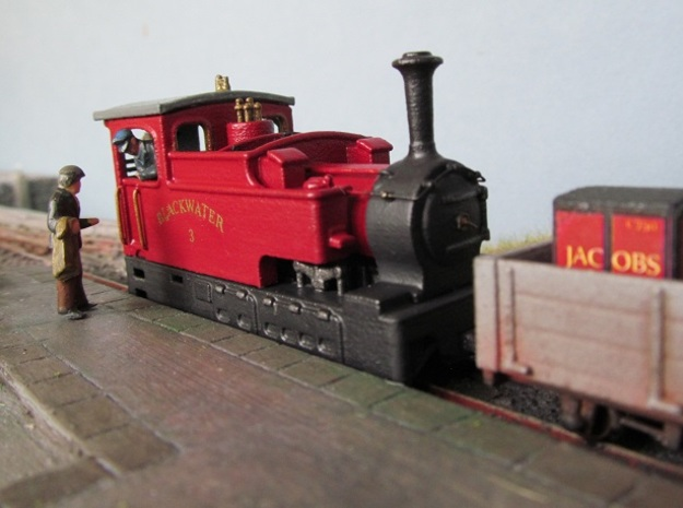 009 Clogher Valley Tram Engine in White Natural Versatile Plastic