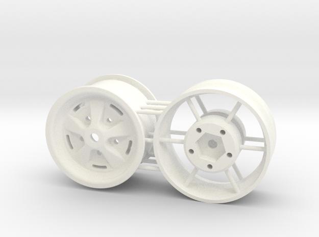 Range Rover 1.7 rim in White Processed Versatile Plastic: 1:10