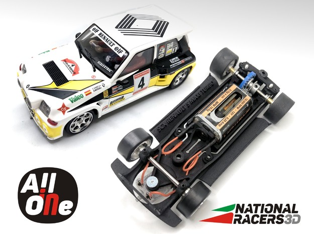 Chassis - SCX Renault 5 MAXI Turbo (In AiO) in Black PA12