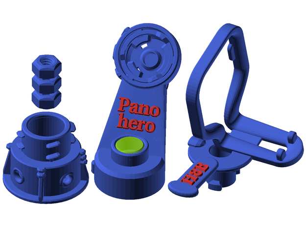 Panohero-Mini for Hero 8 in Blue Processed Versatile Plastic