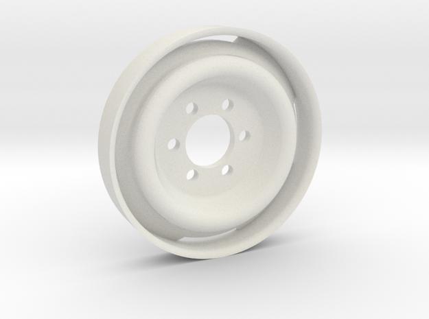 GCM 1.9 BLANK - Ford 6Lug Steelie in White Natural Versatile Plastic