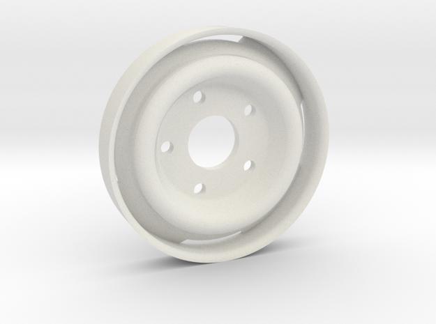 GCM 1.9 BLANK - Ford 5Lug Steelie in White Natural Versatile Plastic