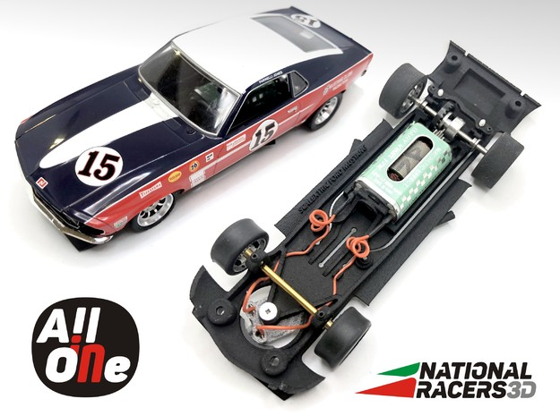 Chassis - Scalextric Ford Mustang (In AiO) in Black PA12