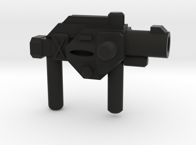 Friar Lovac's Cross Gun  in Black Natural Versatile Plastic