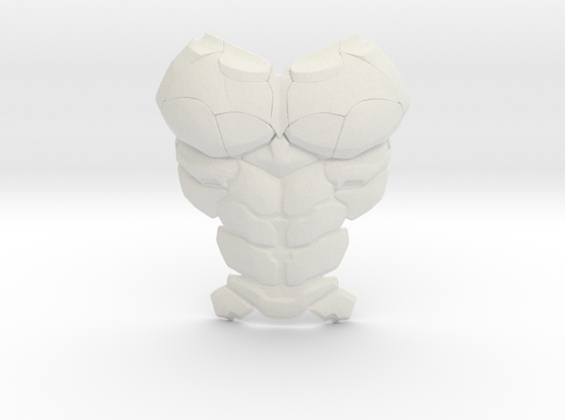 Batman Arkham Batsuit Chestplate | CCBS Scale in White Natural Versatile Plastic