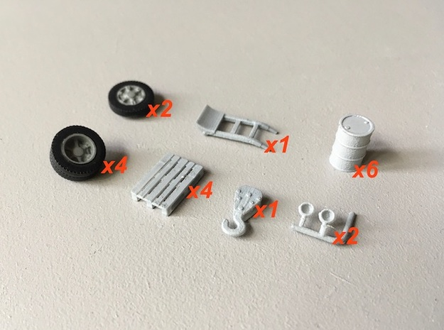 Workshop accessories. Ho 1:87 in Smooth Fine Detail Plastic