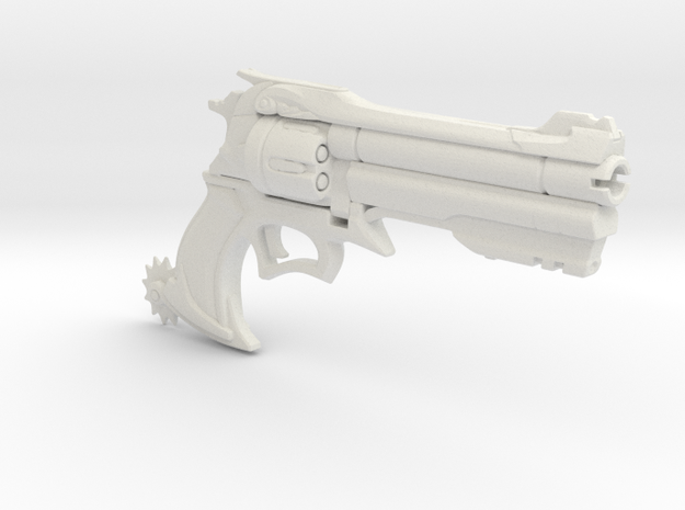 1/3 Scale Overwatch Type Revolver in White Natural Versatile Plastic