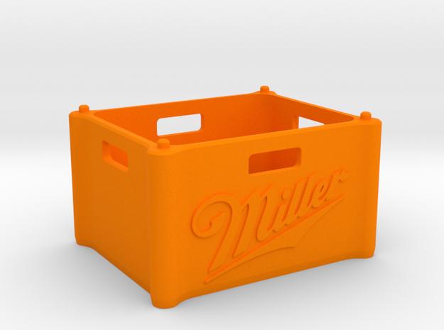 "Beer Crate ""Miller"" 1:10 in Orange Processed Versatile Plastic: 1:10"