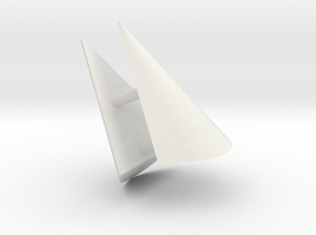 3213 - Fender Ends Fwd (2pcs) in White Natural Versatile Plastic