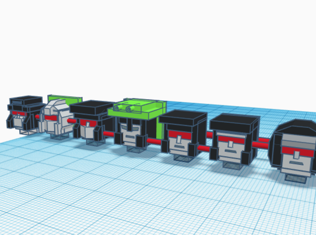 Heads for Constructicon Kreons (Set 2 of 2) in Smooth Fine Detail Plastic