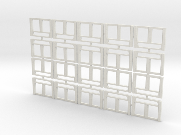 Milwaukee Road Transom Windows Sleeper (x20) in White Natural Versatile Plastic