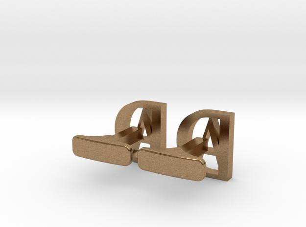 typeface cufflinks 3d printed