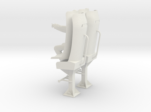 Olaf D with bucket seat in White Natural Versatile Plastic: 1:25